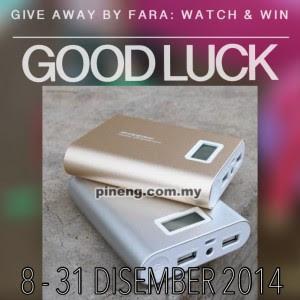 Giveaway by Fara: Powerbank Pineng 10000mAh untuk dimenangi!