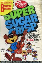 Sugar Bears record cereal box