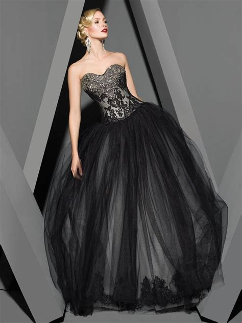 25 Gorgeous Black Wedding Dresses   Wedding, Tulle wedding