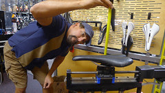 Wade checks measurements Bike fit Santa Cruz weekend_0184
