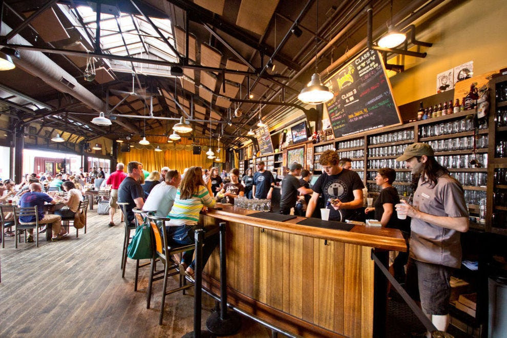 The taproom at Founders Brewing Co.