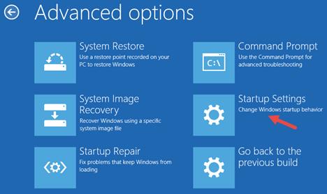 خيارات بدء التشغيل في ويندوز 10