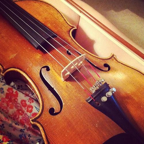 Brushing up the violin