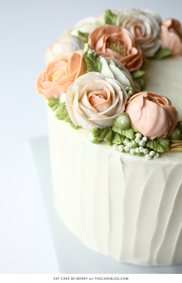 10 Flower Cakes for Spring | including this design by Eat Cake Be Merry | on TheCakeBlog.com