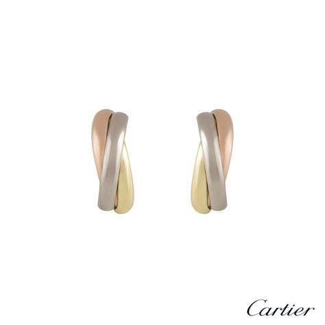 Cartier 18k Three Colour Gold Trinity Earrings 80083231