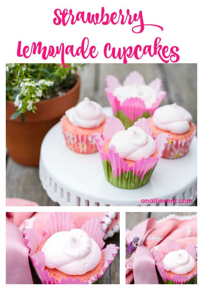 Strawberry Lemonade Cupcakes - An Alli Event - HMLP 85 Feature