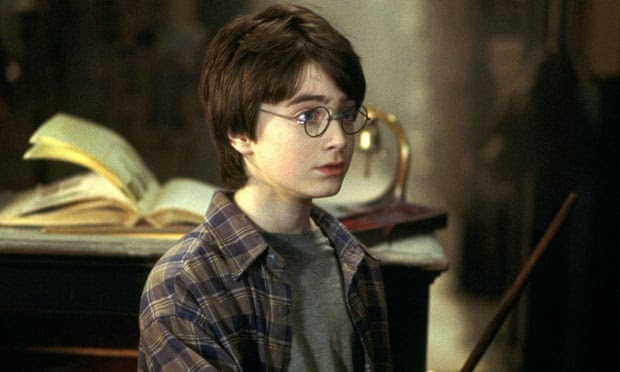 Daniel Radcliffe as Harry Potter in Harry Potter and the Philosopher's Stone