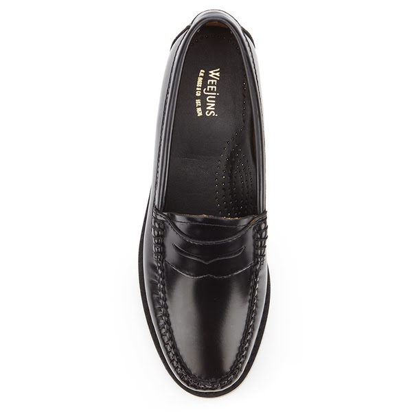 Bass Weejuns Women's Penny Leather Loafers - Black - Free ...