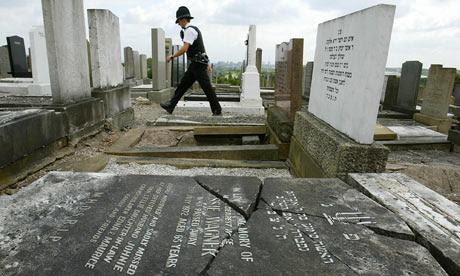 Politiepatrouille Rainsough Joodse begraafplaats