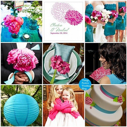 Teal And Fuchsia Wedding Colors: Fuchsia And Teal Wedding Color Palette