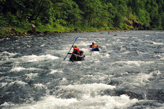 Kayakers on the Clackamas River