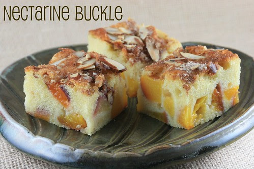 Food Librarian - Peach Buckle with Nectarines