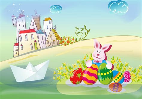 Cute Easter backgrounds PSD   Free download