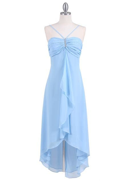 Baby Blue Evening Dress with Rhine Stone Pin   Sung