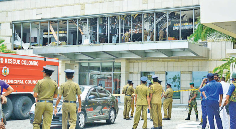 Suicide terrorist attack at the Shangri-La hotel. Picture by Sudath Malaweera
