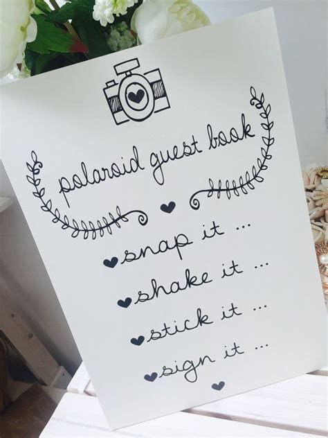 Image result for polaroid wedding guest book sign