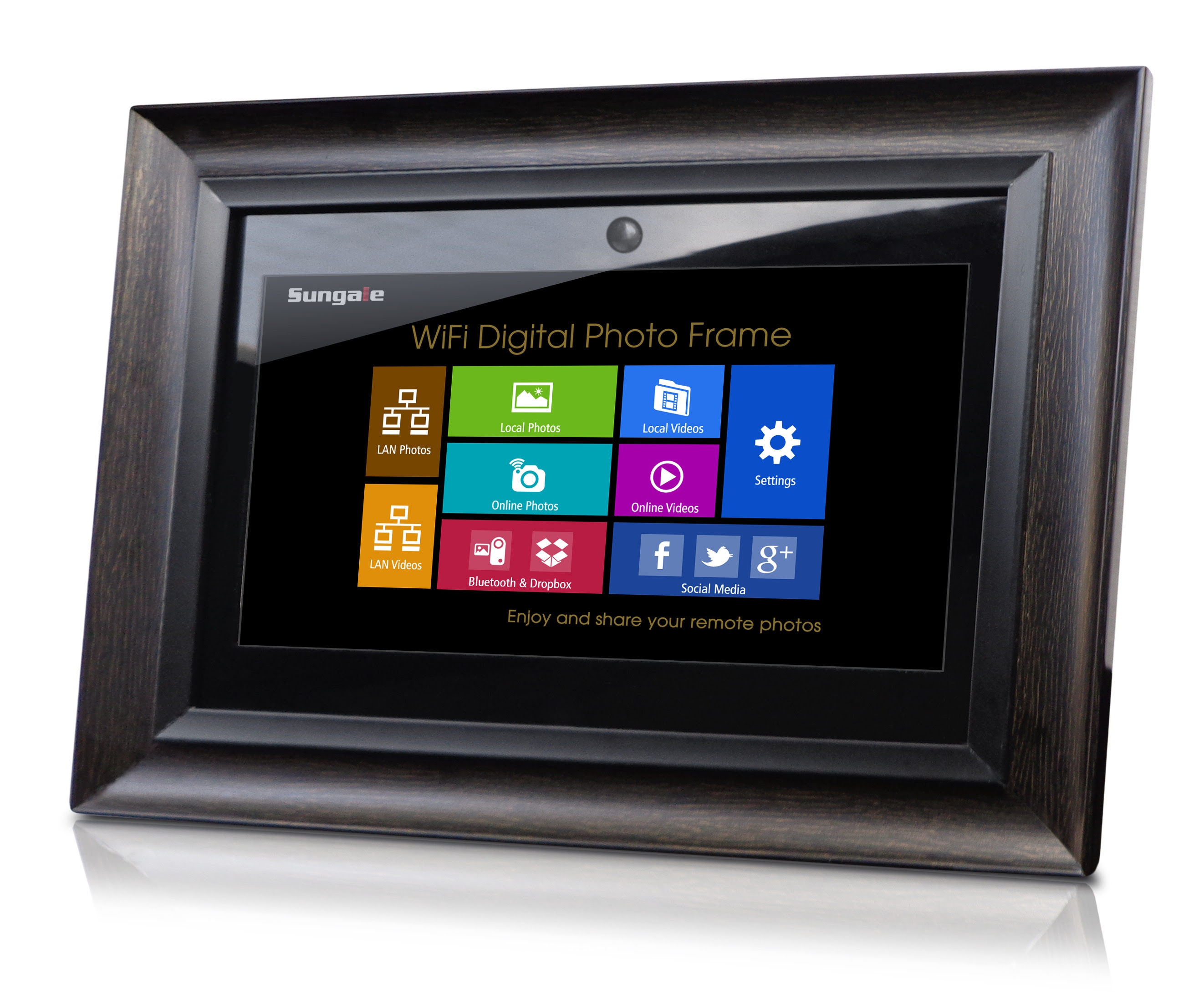 Upc 884945001465 Sungale 14 Wi Fi Digital Photo Frame With Motion