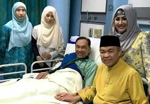 Zahid Hamidi Visits Anwar Ibrahim in Hospital