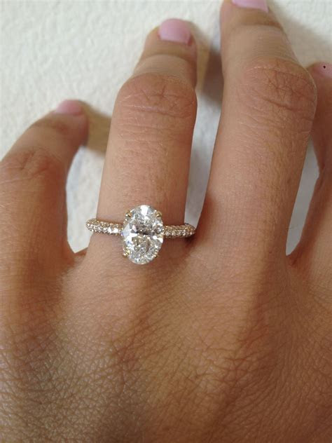Oval   Diamond   Micro Pave   Thin   Platinum   Bridal