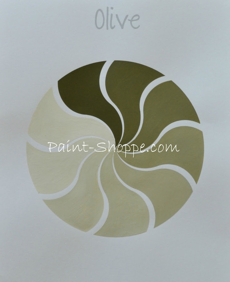 Olive color value pinwheel.  Yummy Eye Candy