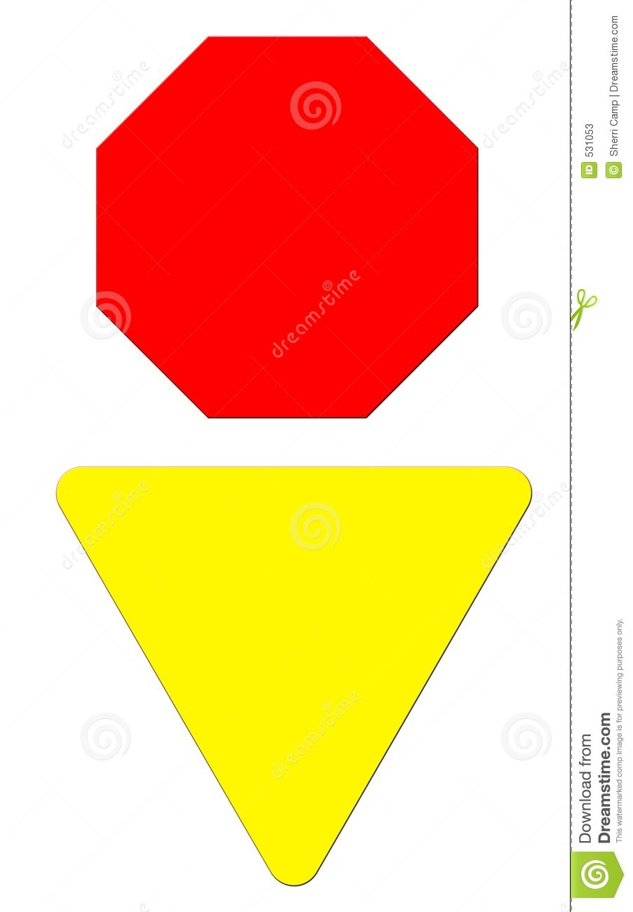 Blank Stop & Yield Sign Stock Photos - Image: 531053