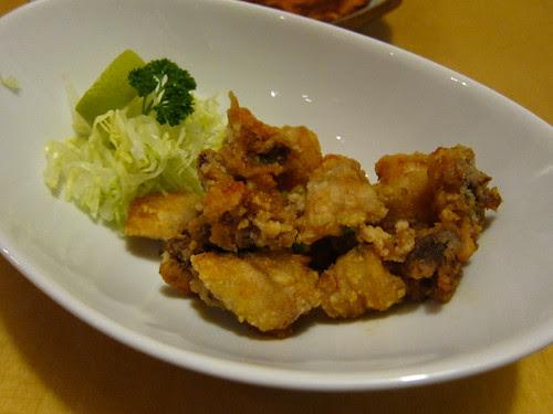 Crispy chilli squid