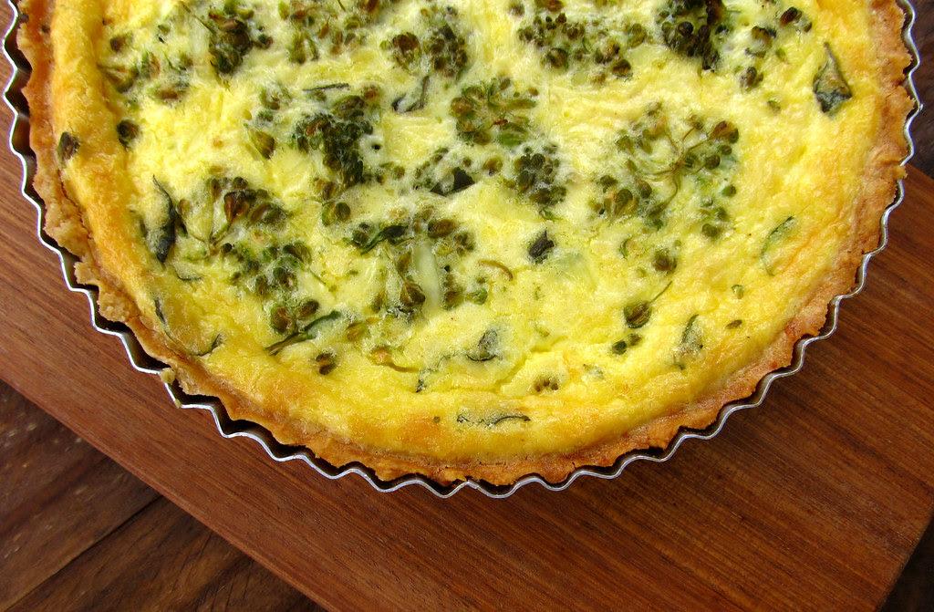 Quiche perfeita de brocoli e queijo branco