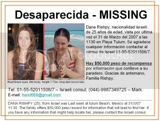 Dana Rishpy Missing Person photo from the early days of the search