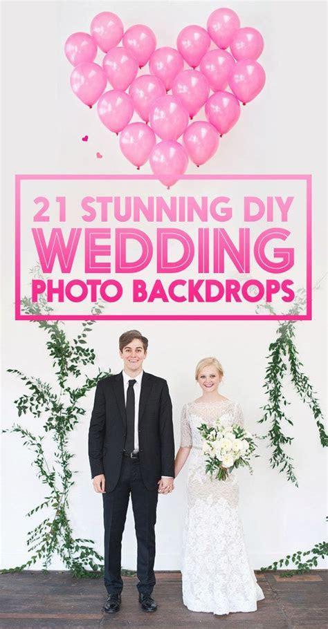 21 Stunning DIY Wedding Photo Booth Backdrops   Weddings
