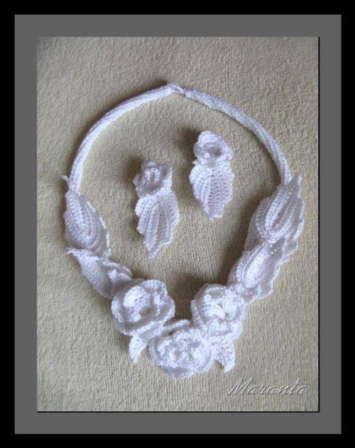 biżuteria szydełkowa irlandzka