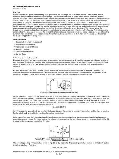 How To Calculate Dc Motor Torque - impremedia.net