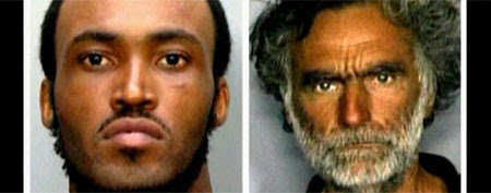 Rudy Eugene, 31, left, and Ronald Poppo, 65, right. (AP/Miami-Dade Police Dept.)