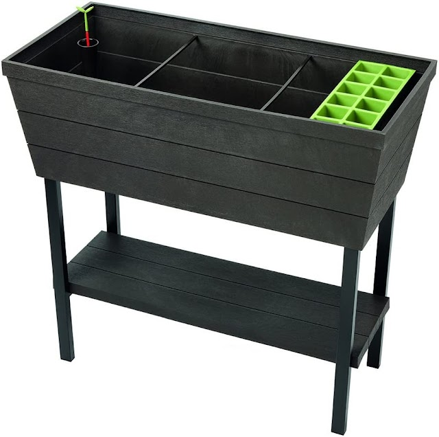 KETER Urban Bloomer 12.7 Gallon Raised Garden Bed with Self Watering Planter Box Online