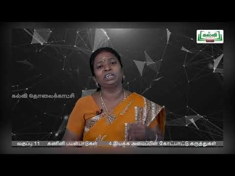 11th Computer Applications இயக்க அமைப்பின் கோட்பாட்டு கருத்துக்கள் அலகு 4 பகுதி 2 Kalvi TV