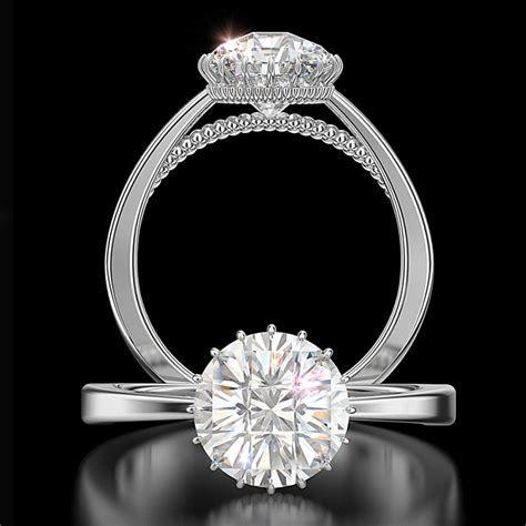 Silhouette  Diamond Engagement Ring Divine Center