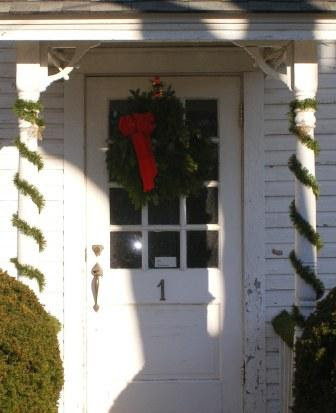 Front of House with Wreath