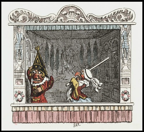 Punch and Judy by George Cruikshank, 1828 r