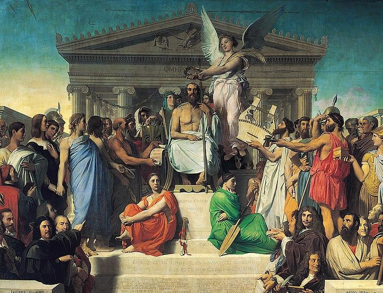 Αρχείο:Jean Auguste Dominique Ingres, Apotheosis of Homer, 1827.jpg