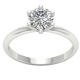 1.01 Ct Prong Set Round Diamond Jewelry Platinum Solitaire