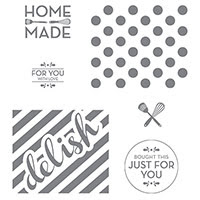 Homemade For You Wood-Mount Stamp Set