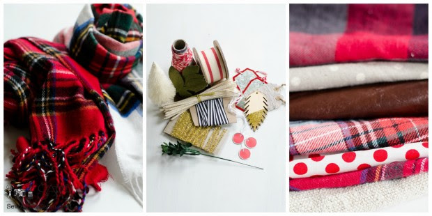 fabric, scarves, and vintage bits of ribbon and tchotchkes make lovely gift wrap