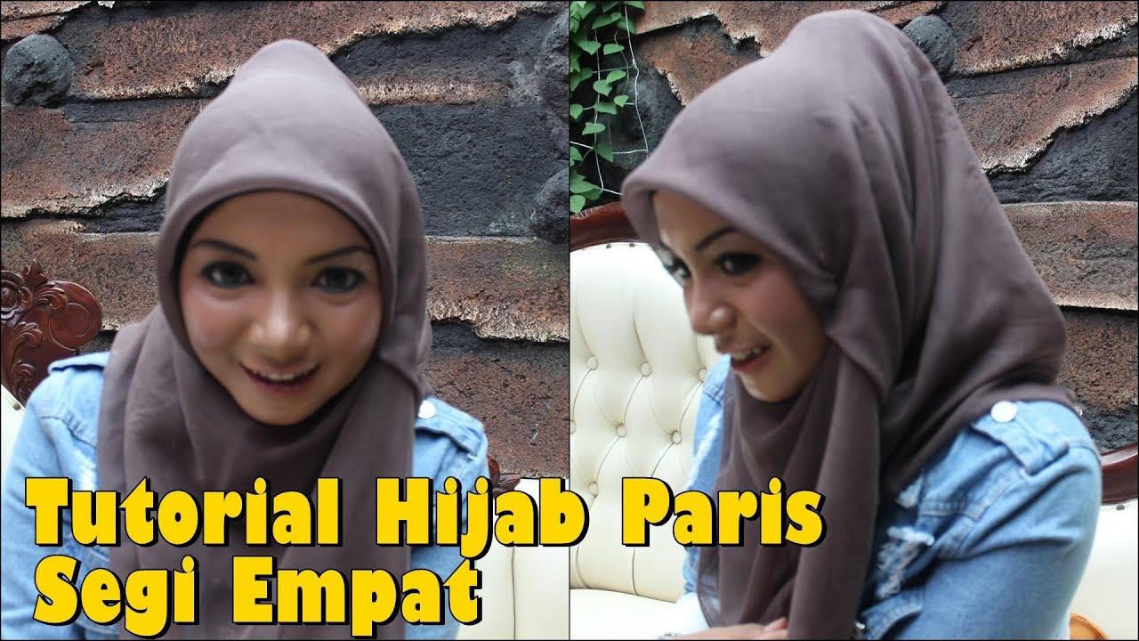 Tutorial Hijab Paris Segi Empat Simple Blog Video Tutorial