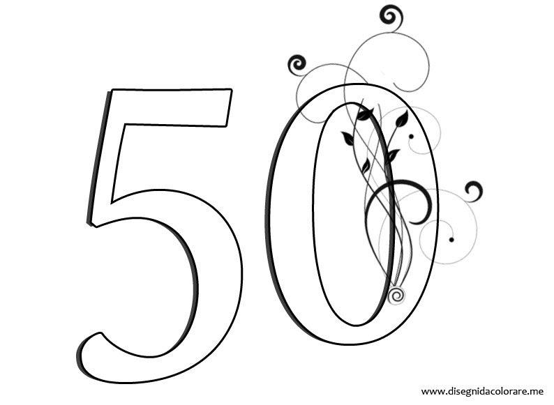50 Numero Da Colorare Disegni Da Colorare