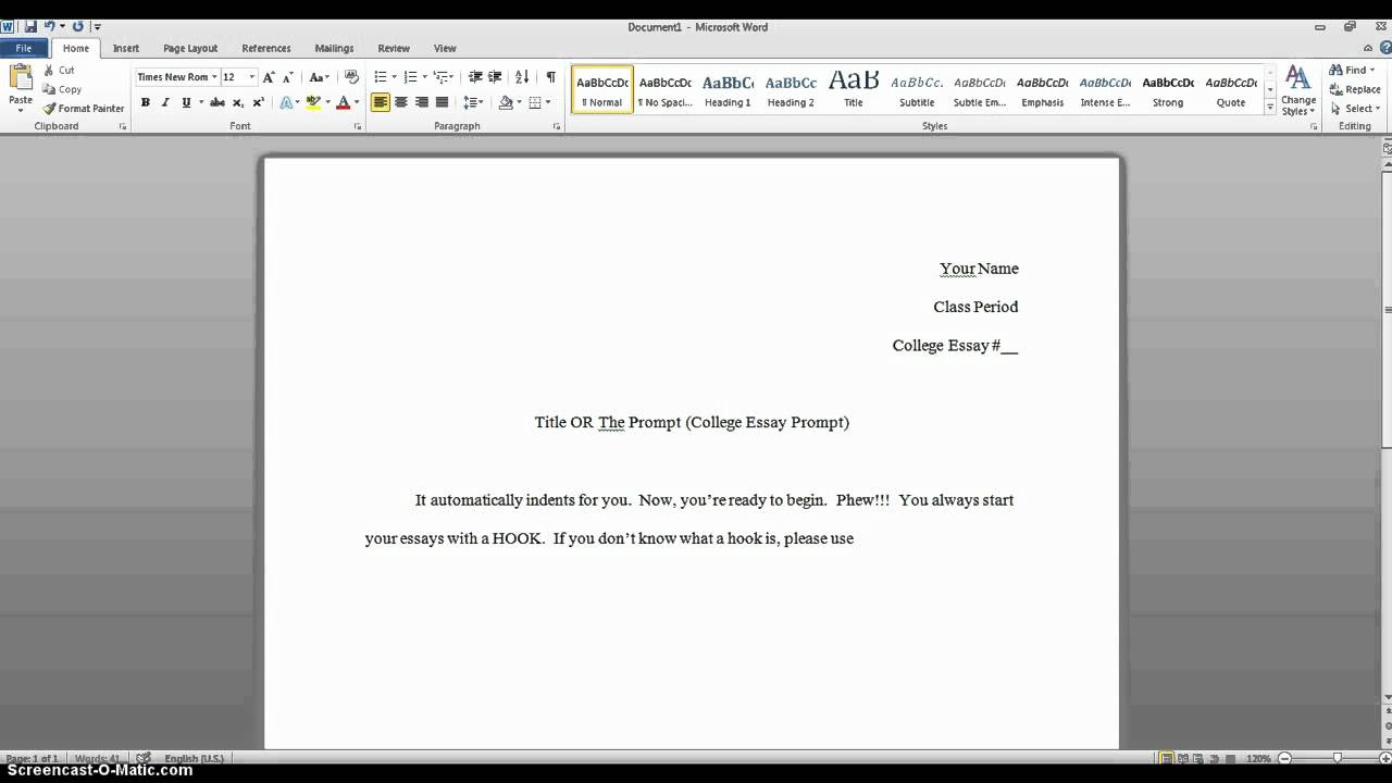 What should i write for my college essay