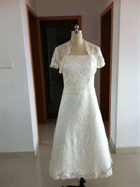 Tea Length Wedding Dresses for Older Brides     Tea