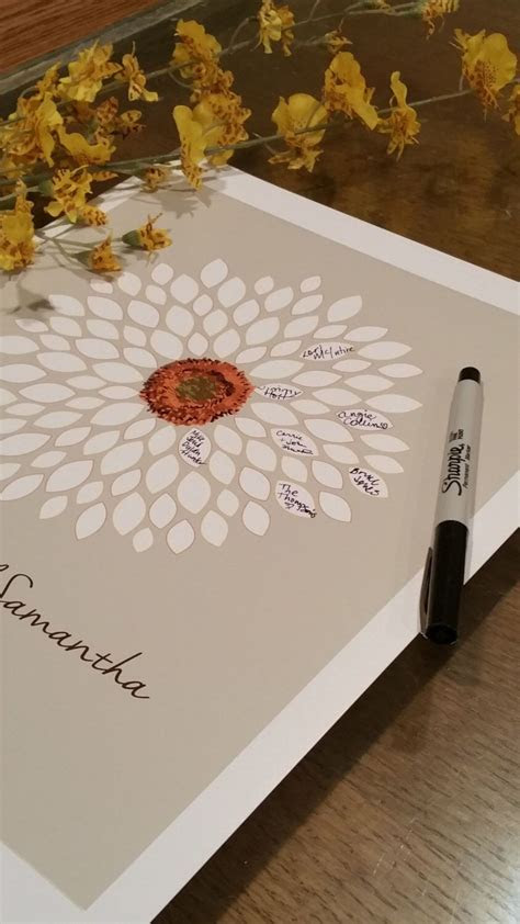 Wedding Guest Book Alternative Bridal Shower Guest Book
