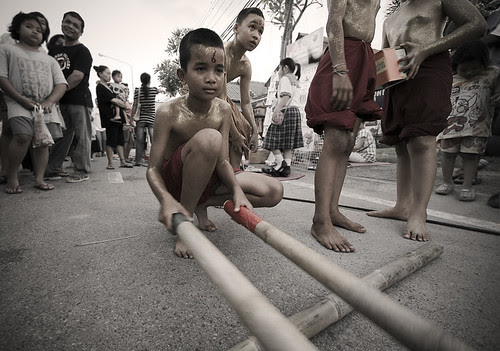 Bamboo Dance in the street