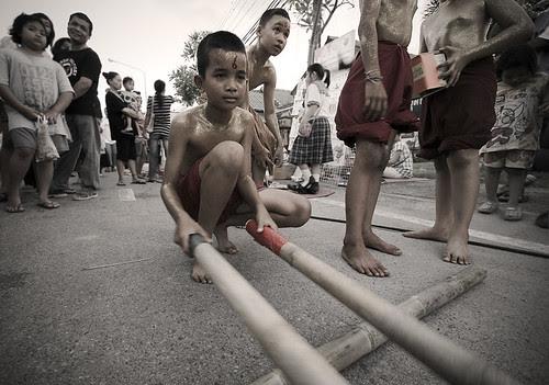 Bamboo Dance in the street