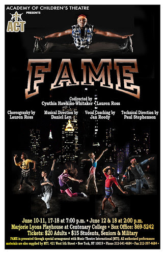 Academy of Children's Theater: Fame opens June 10 @ MLP by trudeau