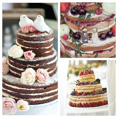 Wedding cake no icing   idea in 2017   Bella wedding